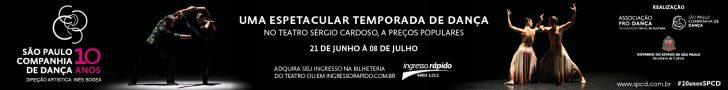 banner promocional da temporada de dnaça da São Paulo Companhia de Dança