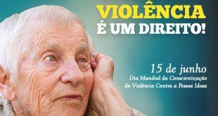 cartaz de divulgação da semana de Conscientização da Violência Contra a Pessoa Idosa