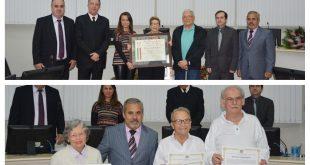 vereadores e representantes da comunidade italiana reunidos na Câmara de São Roquie para celebrar o Dia da Comunidade Italiana