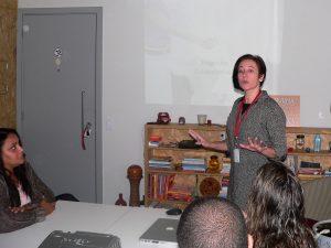 Gisele Schaaf durante o Participantes do Meetup Granja Vianna
