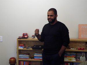 Leonardo Phelipe Rodrigues Silva durante o Participantes do Meetup Granja Vianna