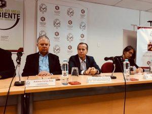 o deputado estadual Marcio Camargo fala durante o Ciclo de Debates – Empreendedorismo na Associação Comercial de São Paulo