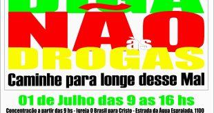 III Caminhada contra as Drogas acontece dia 1 de julho em Caucaia do Alto