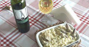 Risoto de alcachofra ao vinho do Restaurante Bonsucesso Alcachofra , participante do Festival Enogastronômico