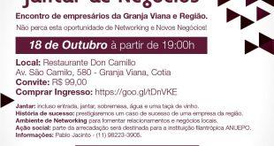 Granja Viana: BNI Invictus realiza 2º Jantar de Negócios com empresários da região