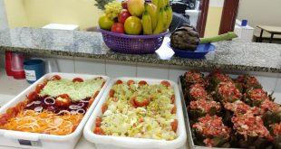 pratos com alcachofras servidos em alguma escola ou creche de são roque