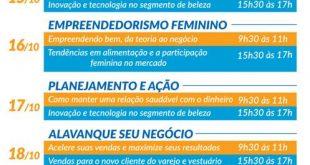cartaz com a programação da semana do empreendedor em vargem grande paulista