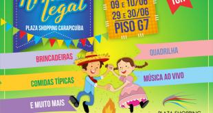 cartaz promocional da Festa Junina do Plaza Shopping Carapicuíba