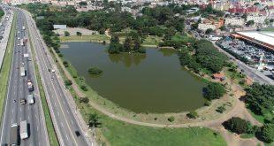 fotografia aérea do Parque dos Paturis em Carapicuíba
