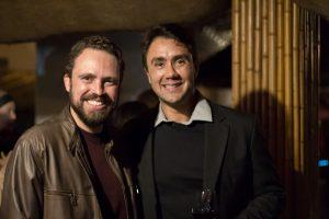 Os dentistas Wolber Campos e Fernando Ferraz durante evento de lançamento do livro Tributo a Elas no Tantra