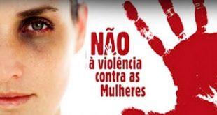 cartaz com imagem derepúdio à violência contra a mulher