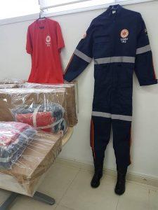 uniformes do novo kit do samu