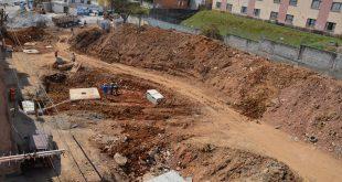 vista aérea das obras do novo terminal vila menck
