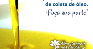 cartaz de divulgação da coleta de óleo de cozinha usado nas escolas de carapicuíba
