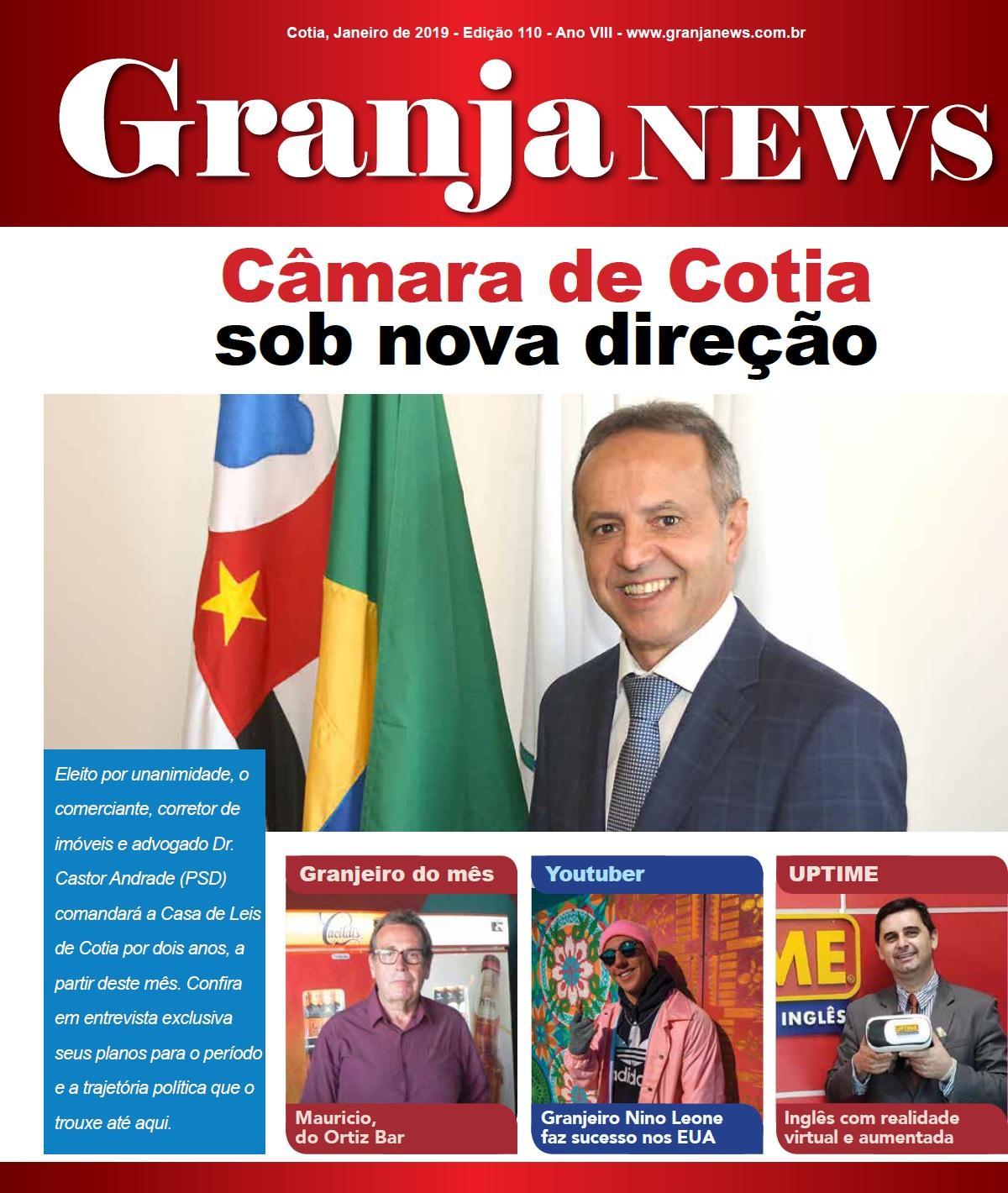 capa da edição 110 do jornal Granja News