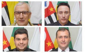 montagme com fotos dos quatro vereadores que compõem a comissão