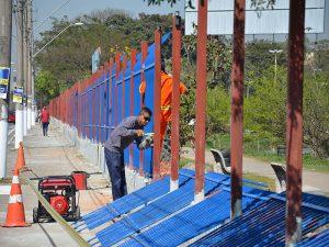 obras no parque dos paturis