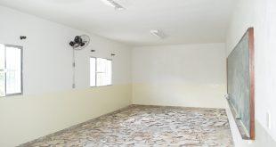 sala de aula recém-reformada da escola ciranda da criança