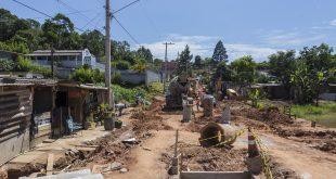 obras de pavimentação da Rua Joaquim Nabuco