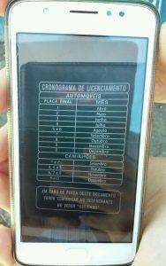 previsão para regularização de documento de veículo que serve a EM Francisco Nunes de Oliveira