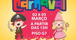 banner de divulgação do 3º bailinho de carnaval do plaza shopping carapicuíba