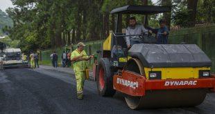 Em andamento a pavimentação das Estradas Normandia e Danúbio no Jardim Pioneira