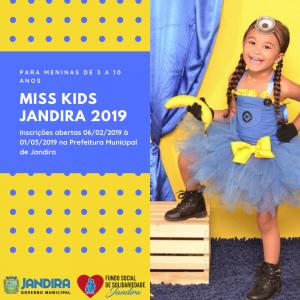 flyer de divulgação do miss jandira kids 2019