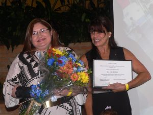 Lidia Wahhab (esquerda) e Celia de Oliveira Pawel (direita)