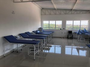 interior do novo setor de fisioterapia do centro  médico cotia