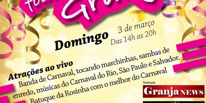 banner do evento foliões da granja