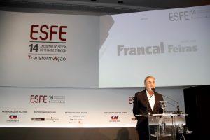 Otavio Neto, CEO do Grupo Radar & TV, discursa no Encontro do Setor de Feiras e Eventos (ESFE)