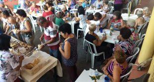 dezenas de idosos realizando atividades no Centro de Convivência do Idoso de são roque