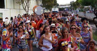 bloco Haja Fígado desfilando no carnaval de são roque 2019