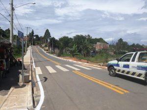 rua joaquim nabuco com sinalização recém pintada