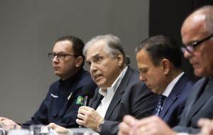 autoridades reunidas para anúncio da Operação Carnaval + Seguro 2019