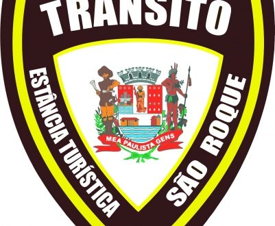 emblema da campanha de educação no trânsito de são roque