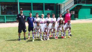 equipe sub-11 da escola do São Paulo na granja viana