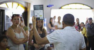 Biblioteca de Caucaia do Alto fica lotada durante a apresentação do 'Sarau das Crianças'