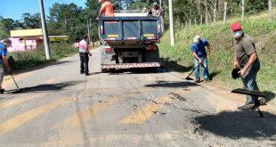 Cotia/SP – Estrada dos Grilos recebe a Operação Tapa-buracos