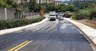 Prefeitura de Cotia implanta redutores de velocidade ao longo da Estrada do Padre Inácio