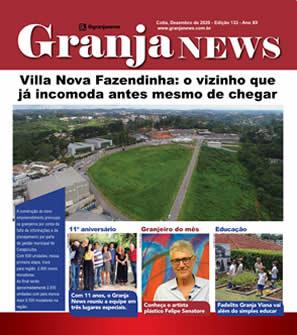 capa da edição 133 do jornal Granja News