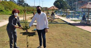 Quase 40 árvores são plantadas no novo parque linear do Jd. Rosemary, em Cotia
