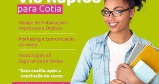 Cotia/SP- Vagas limitadas: Inscrições abertas para cursos Via Rápida, em parceria com o Senac