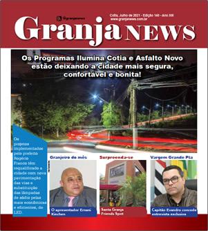 capa da edição 140 do jornal Granja News